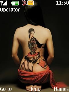 Tattoo Girl Mobile Theme