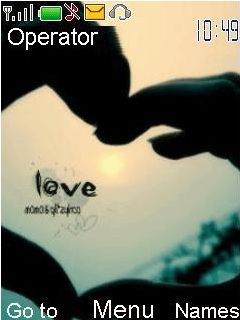 Emo Love Mobile Theme