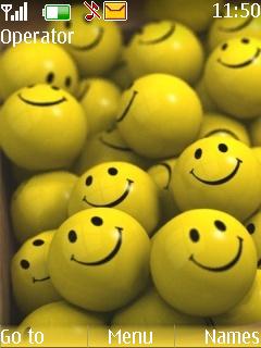 Happy Yellow Smilies Mobile Theme