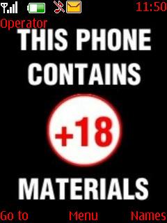 18 Plus Mobile Theme