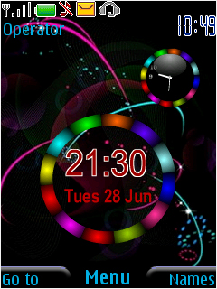 Clock Colors Mobile Theme