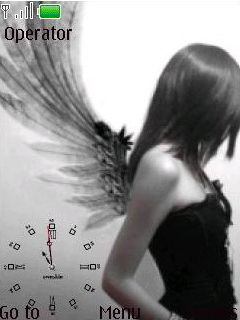 Flash Angle Clock Mobile Theme