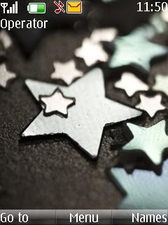 Star Glitter Drop Mobile Theme