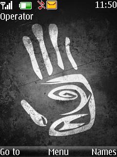 Tribal Hand Mobile Theme