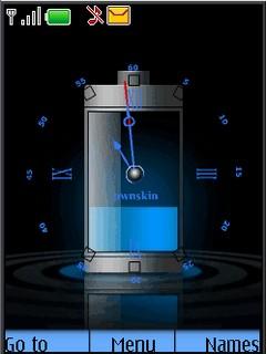 Blue Clock Mobile Theme