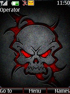 Red Skull Mobile Theme