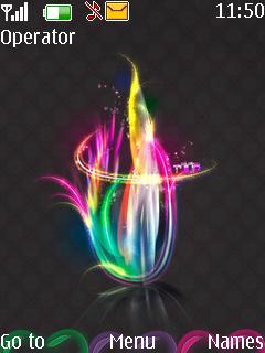 Rainbow Fire Mobile Theme