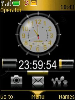Clock Cool Mobile Theme