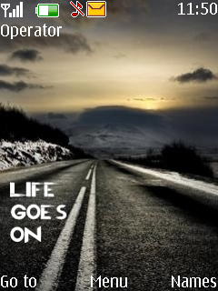 Life Goes On Mobile Theme