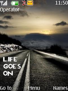 Life Goes On Mobile Theme