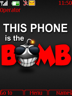 Bomb Phone Mobile Theme