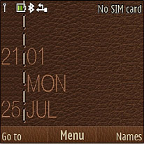 Leather Clock Mobile Theme