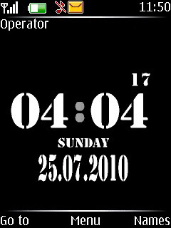 Black Shine Clock Mobile Theme