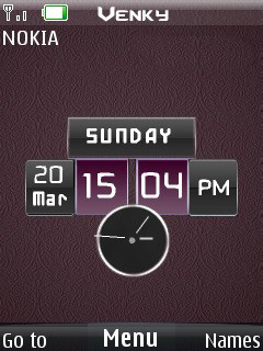 Dual Techno Clock Mobile Theme
