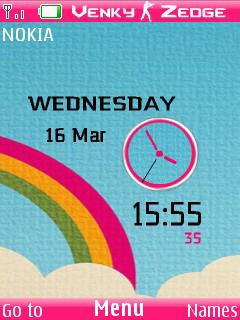 Vector Design Clock Mobile Theme