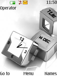 Blocks Clock Mobile Theme