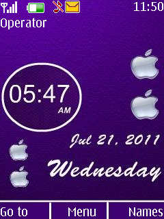 Purple Desire Clock Mobile Theme