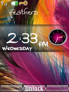Feather Clock Mobile Theme