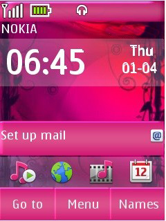 Pink Abstract Mobile Theme