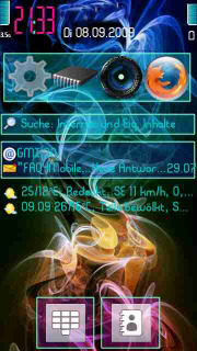 Rainbow Smoke Mobile Theme