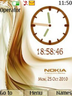 Brown Clock Mobile Theme