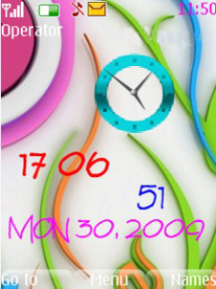 Colored Clock Mobile Theme