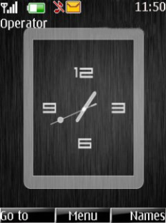 Black Clock Mobile Theme
