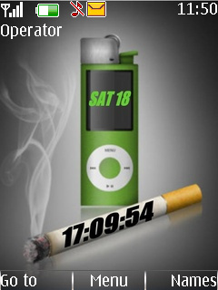 Smoke Clock Mobile Theme