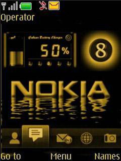 Golden Black Mobile Theme