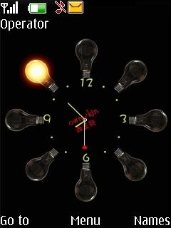 Bulb Clock Mobile Theme