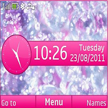 Crystal Pink Mobile Theme