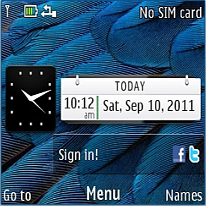 Symbian Belle Blue Bird Mobile Theme