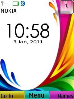 Colorful Clock Mobile Theme