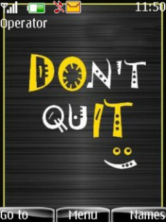 Dont Quit Mobile Theme