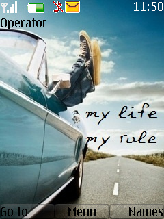 My Life My Rule Mobile Theme