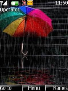 Animated Rain Mobile Theme
