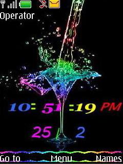 Colourfull Clock Mobile Theme