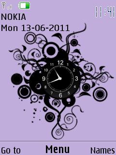 Vector Clock Mobile Theme