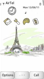 Eiffel Tower Mobile Theme