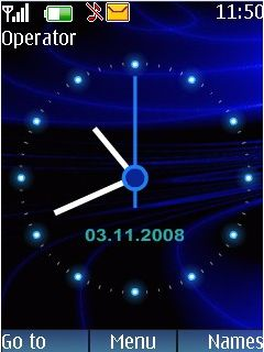 Blue Swf Clock Mobile Theme