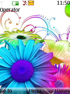 Colors Flowers Mobile Theme