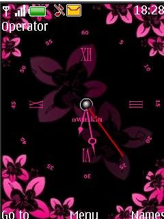 Floral Clock Mobile Theme