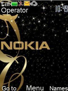 Animated Nokia Gold Mobile Theme