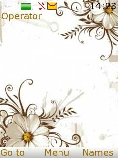 White Flower S40 Nokia Theme Mobile Theme