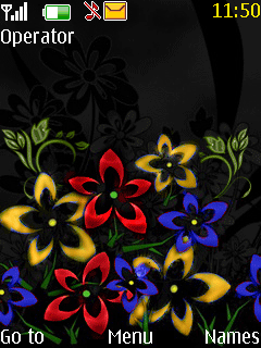 Color Changing Flower Nokia Theme Mobile Theme