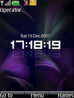 Clock Purple Abstract Mobile Theme