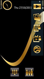 Gold And Black Mobile Theme