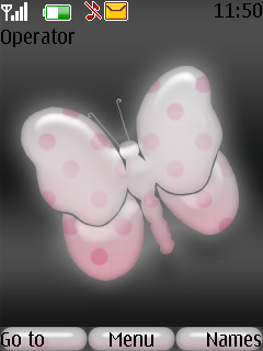 Pink Butterfly Mobile Theme