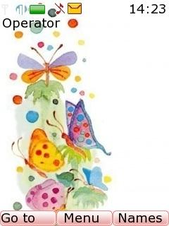 Butterfly Colors Mobile Theme