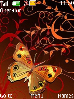 Abstract Butterfly Mobile Theme